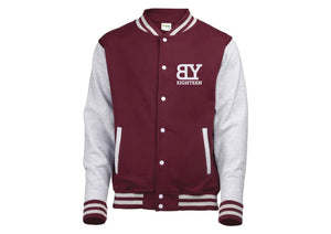 Veste teddy bordeaux/grise