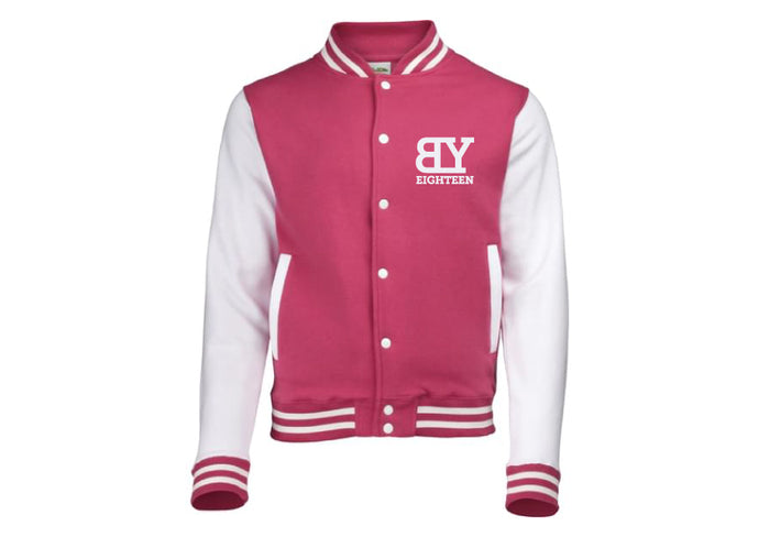 Veste teddy rose/blanche