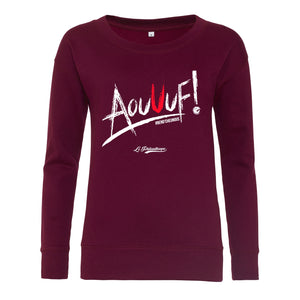 Sweat / Hoodies femme coupe ajustée Aouuf ! bordeaux
