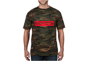 T-shirt Eighteen militaire