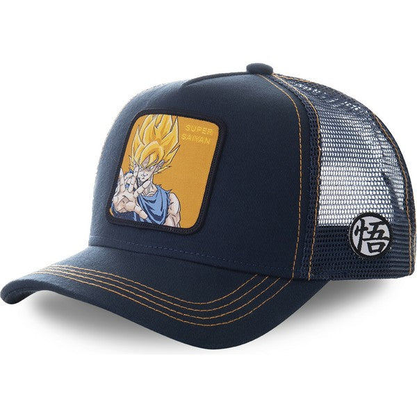 Dragon Ball Z Casquette Trucker Goku SSJ bleu et or