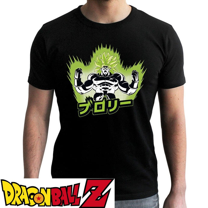 T-shirt Dragon Ball Z (DBZ) noir adulte - personnage Broly eighteen clothing