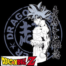 T-shirt Dragon Ball Z (DBZ) noir adulte - personnage San Goku Ultra Instinct eighteen 18
