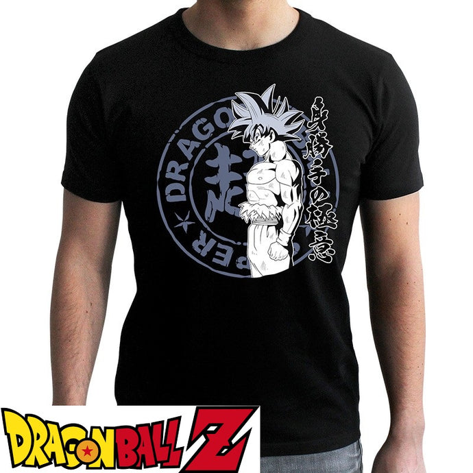 T-shirt Dragon Ball Z (DBZ) noir adulte - personnage San Goku Ultra Instinct eighteen clothing