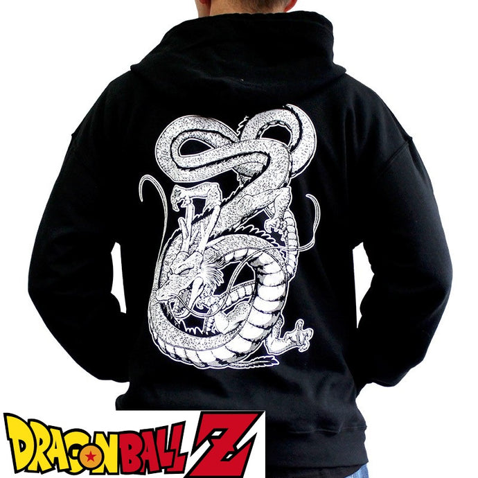 Sweat shirt zippé Dragon Ball Z (DBZ) noir adulte - personnage Dragon Shenron eighteen 18