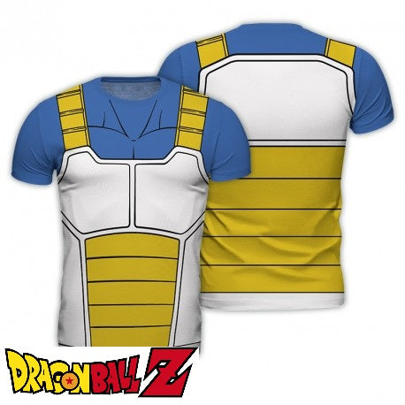 Dragon Ball Z t-shirt DBZ réplique Végéta eighteen 18