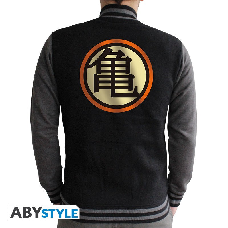 Teddy veste baseball collection Dragon Ball Z distribuée par la marque Eighteen Clothing 18