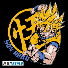 Dragon Ball Z t-shirt DBZ San Goku super Saiyan noir