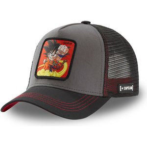 Dragon Ball Casquette Trucker kid Goku gris, noir et rouge