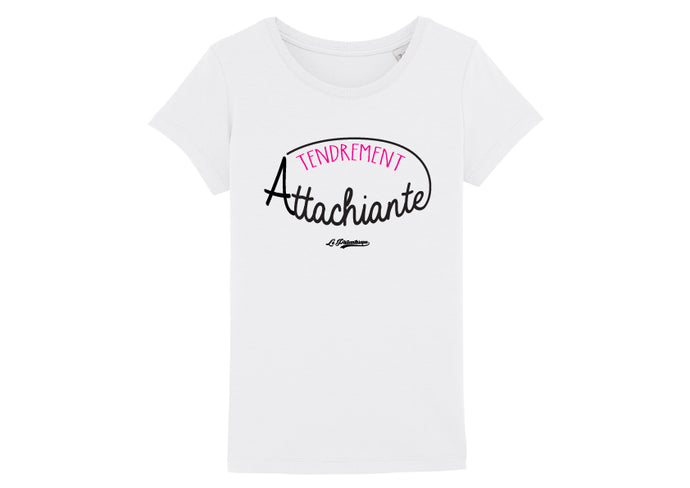 T-shirt Le Philanthrope Tendrement attachiante blanc
