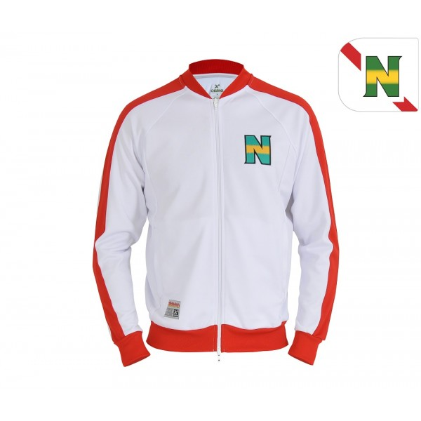 [Nouvelle collection] Veste zippée New Team blanche et rouge