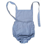 Halter romper in chambray