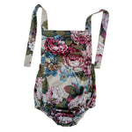 Halter romper in autumn florals