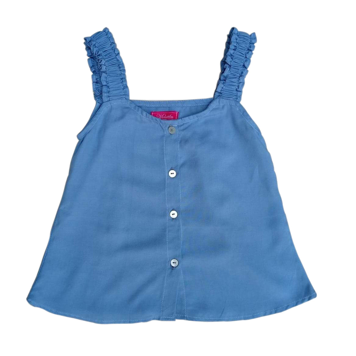 Isla swingtop in chambray