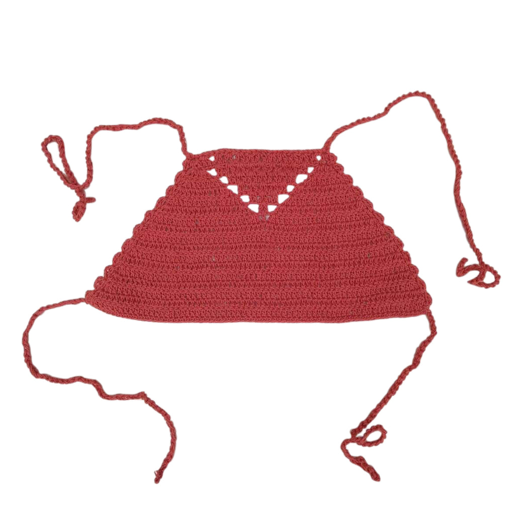 Crochet crop in Terracotta