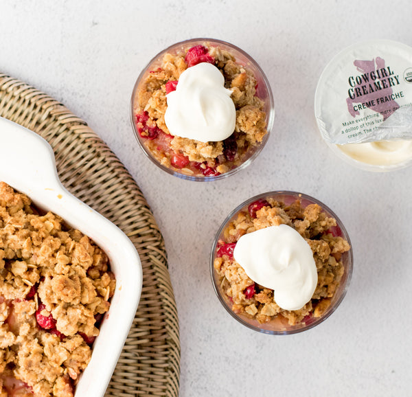 Cranberry Apple Crumble with Cowgirl Creamery Creme Fraiche