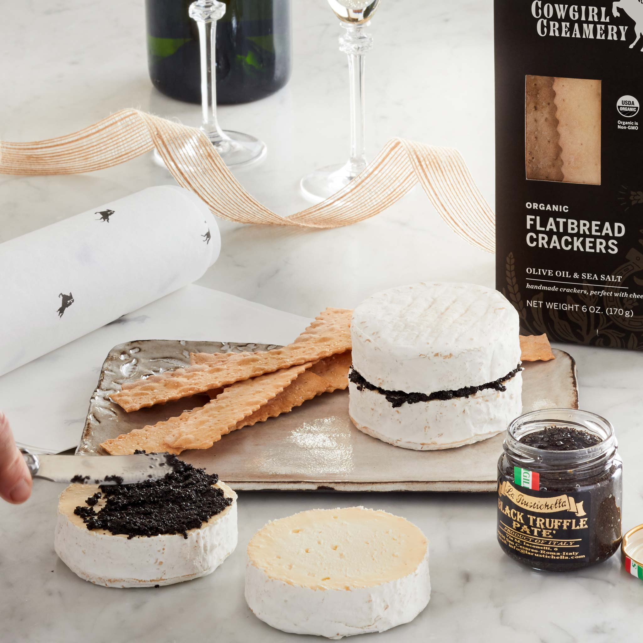 Truffle Tam Home Kit. Includes two Mt Tam and  Black Truffle Pate from La Rustichella.