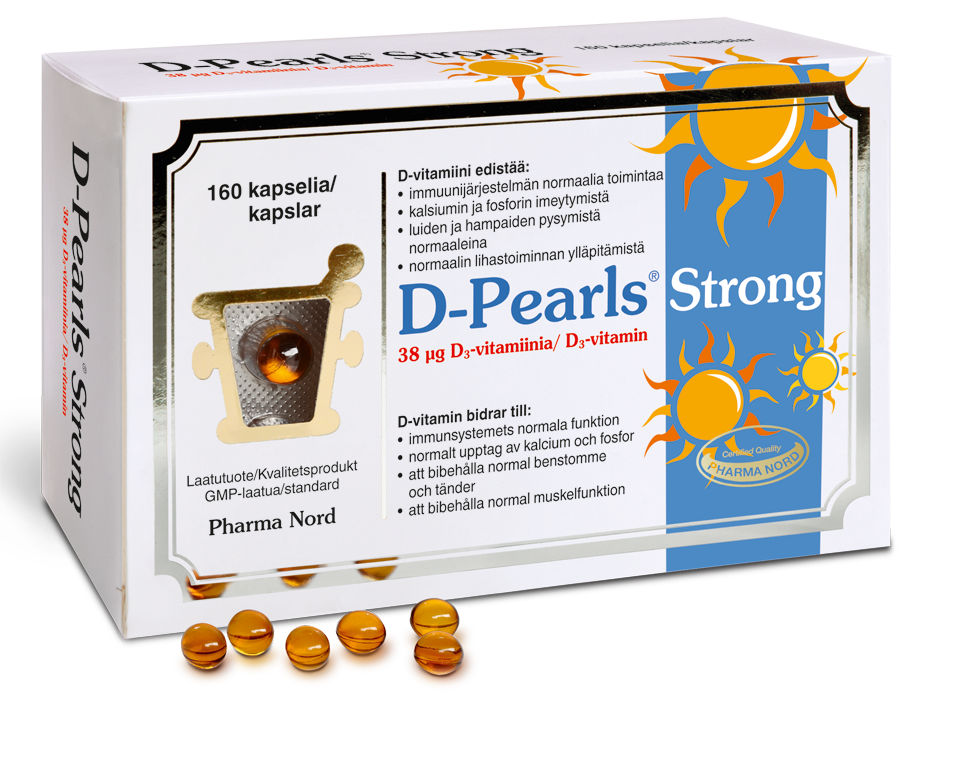 PHARMA NORD D-PEARLS STRONG 38 mikrog 160 kaps.