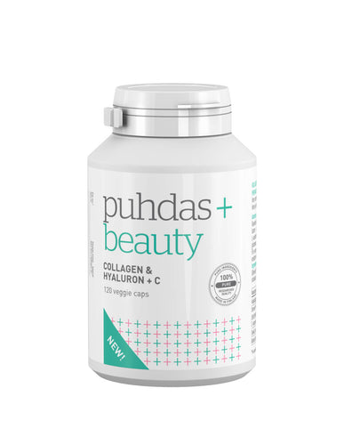 Puhdas+ Beauty Collagen & Hyalyron + C      120 vegakaps