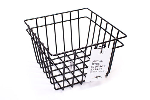 MAYN METAL WIRE STORAGE BASKET White XS