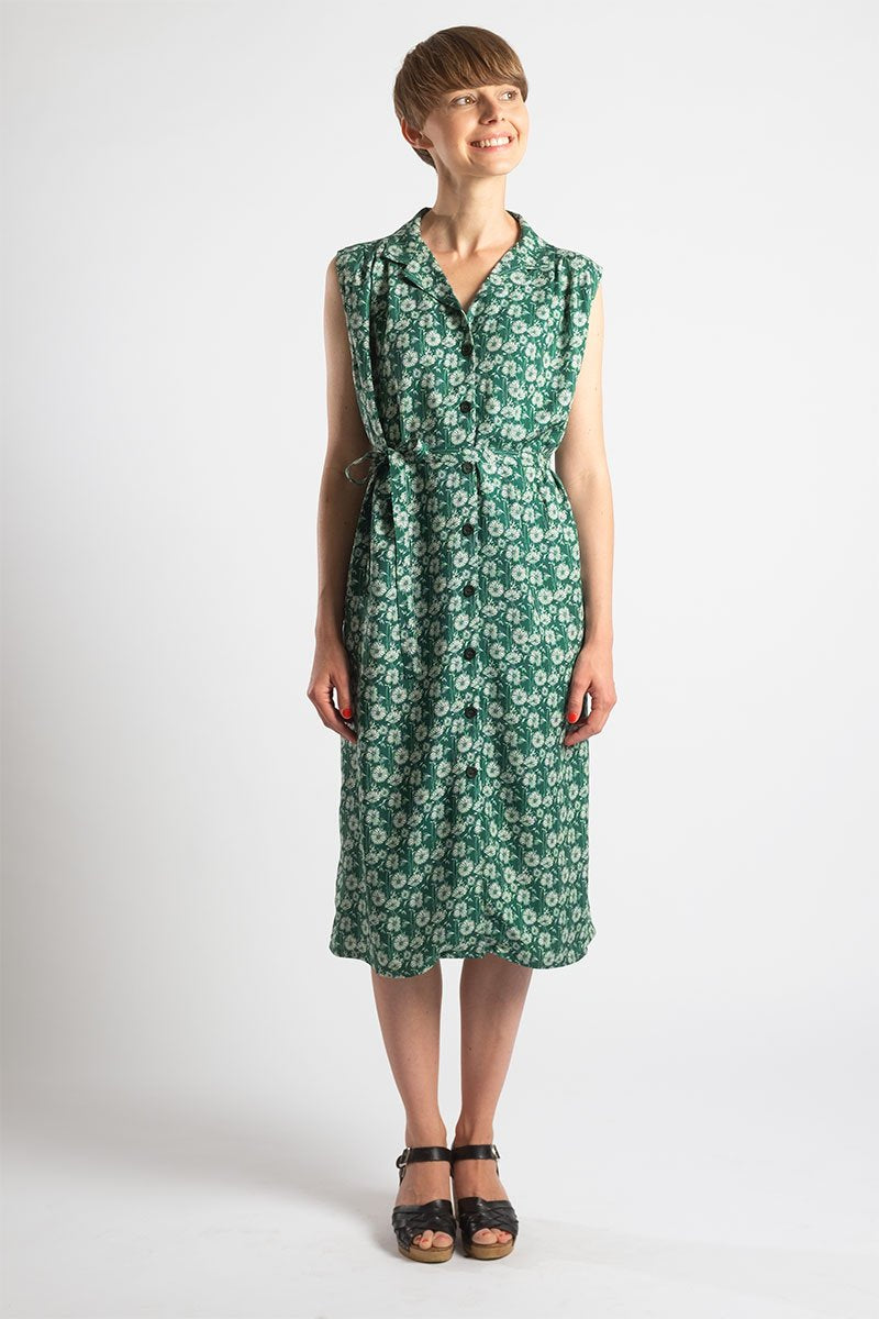 Mona floral green