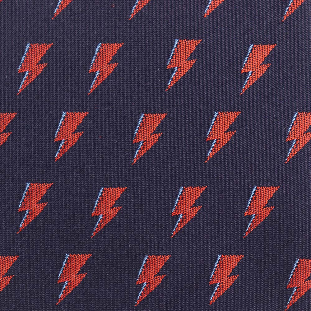 David Bowie Navy All Over Bolt Tie - Section 119