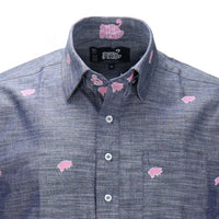 Pink Floyd Pigs Short Sleeve Button-Down Shirt - Section 119