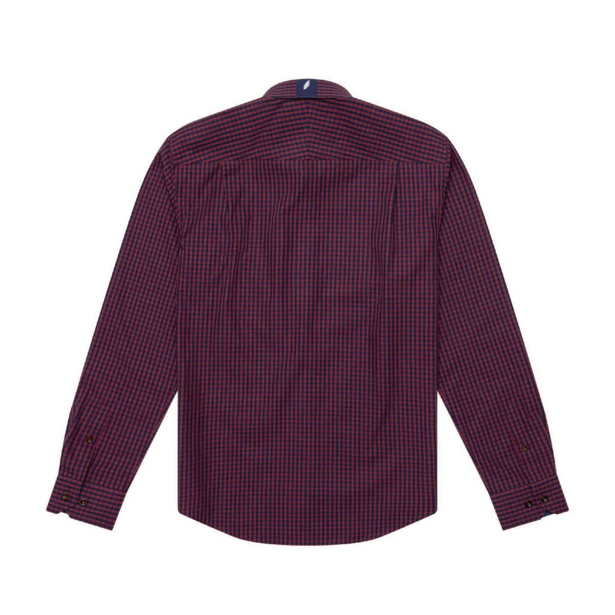 Grateful Dead Navy and Dark Red Gingham Button-Down - Section 119