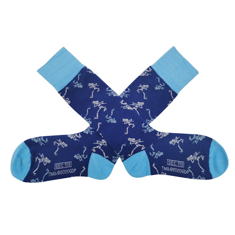 Grateful Dead Blue Skeleton Socks - Section 119