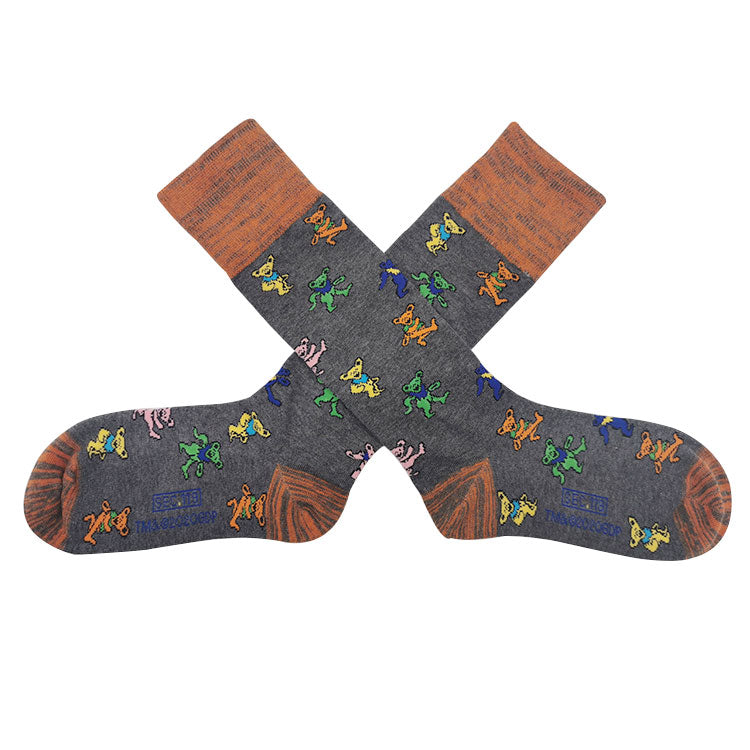 Grateful Dead Grey Dancing Bear Socks - Section 119