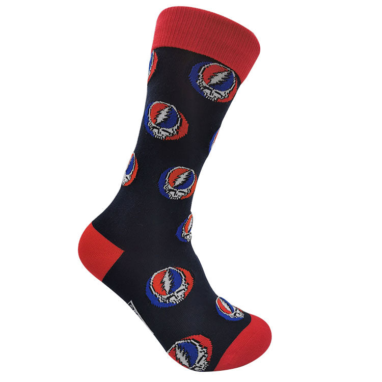 Grateful Dead Navy Steal Your Face Socks - Section 119
