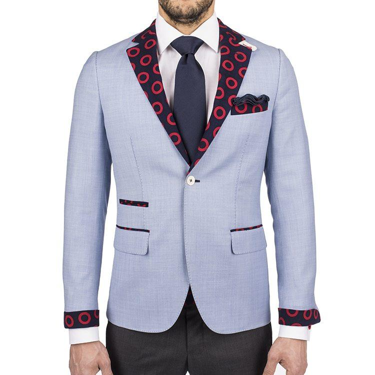 Section 119 Light Blue Donut Sport Coat - Section 119