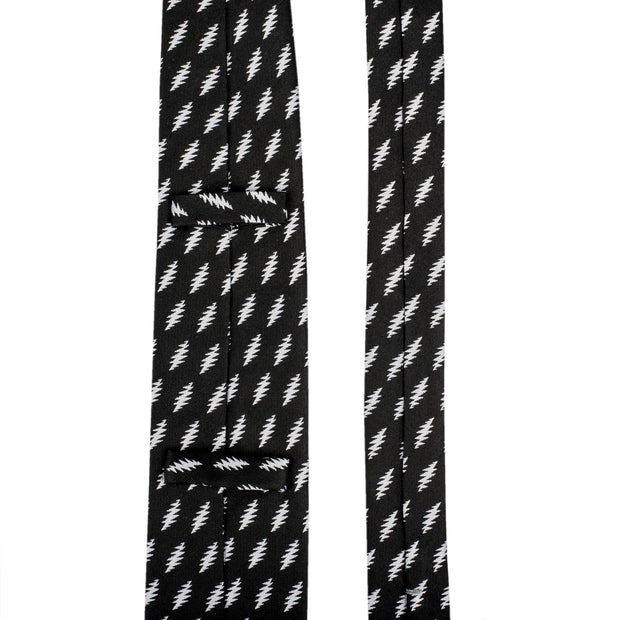 Grateful Dead All Over 13 Bolt Black Tie (white)