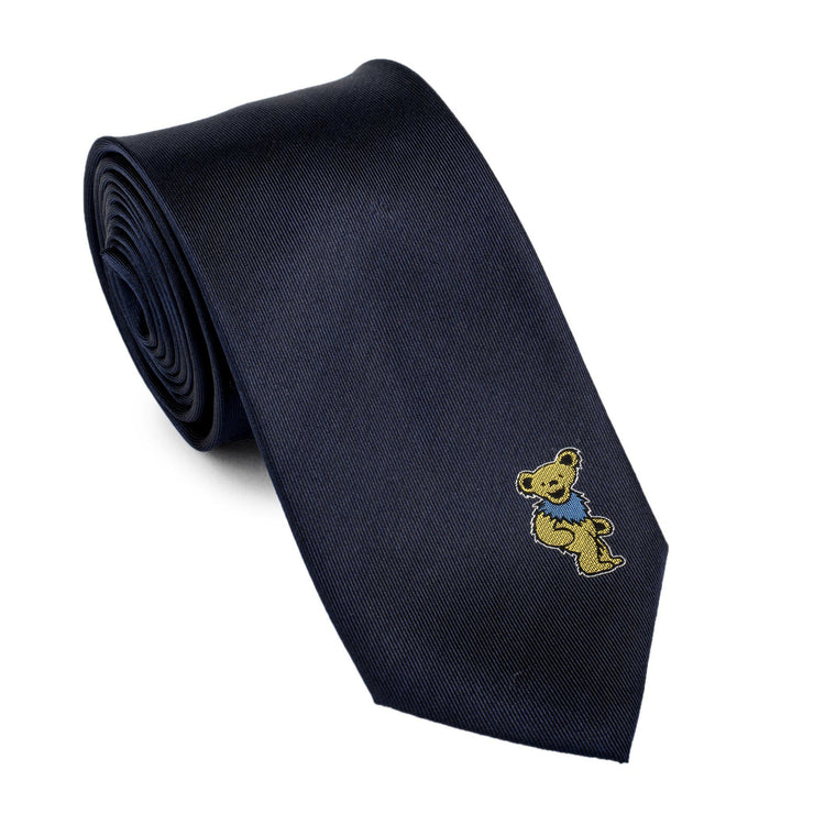 Grateful Dead Navy with Yellow Dancing Bear Tie by Section 119