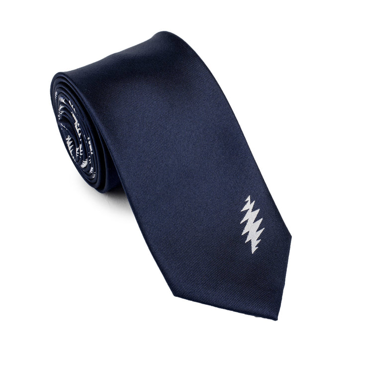 Grateful Dead 13 Bolt Navy Tie