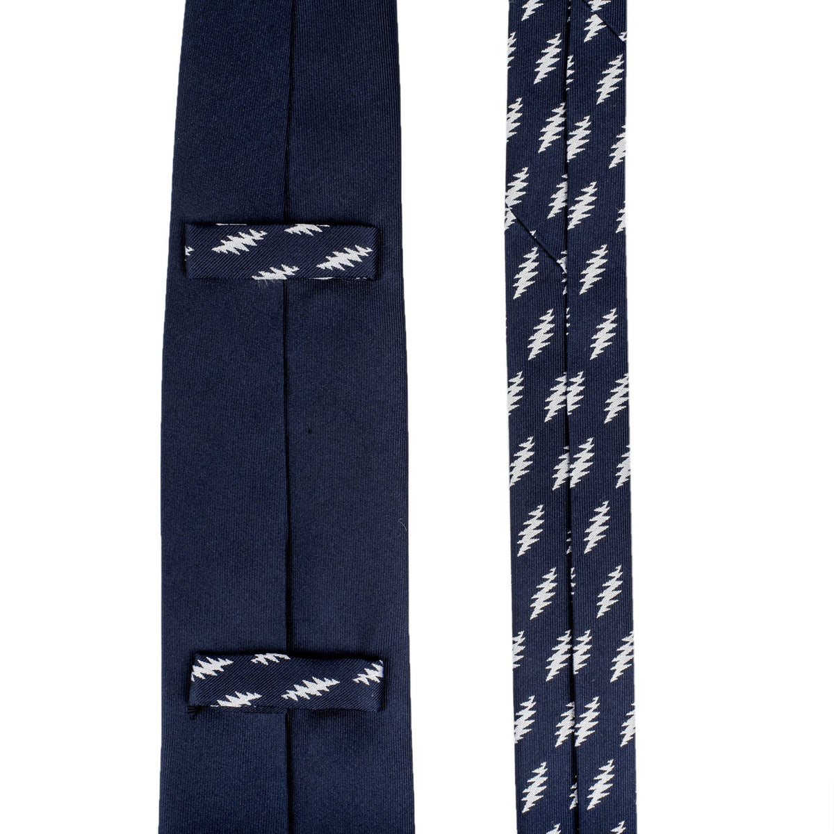 Grateful Dead Navy 13 Point Bolt Tie - Section 119
