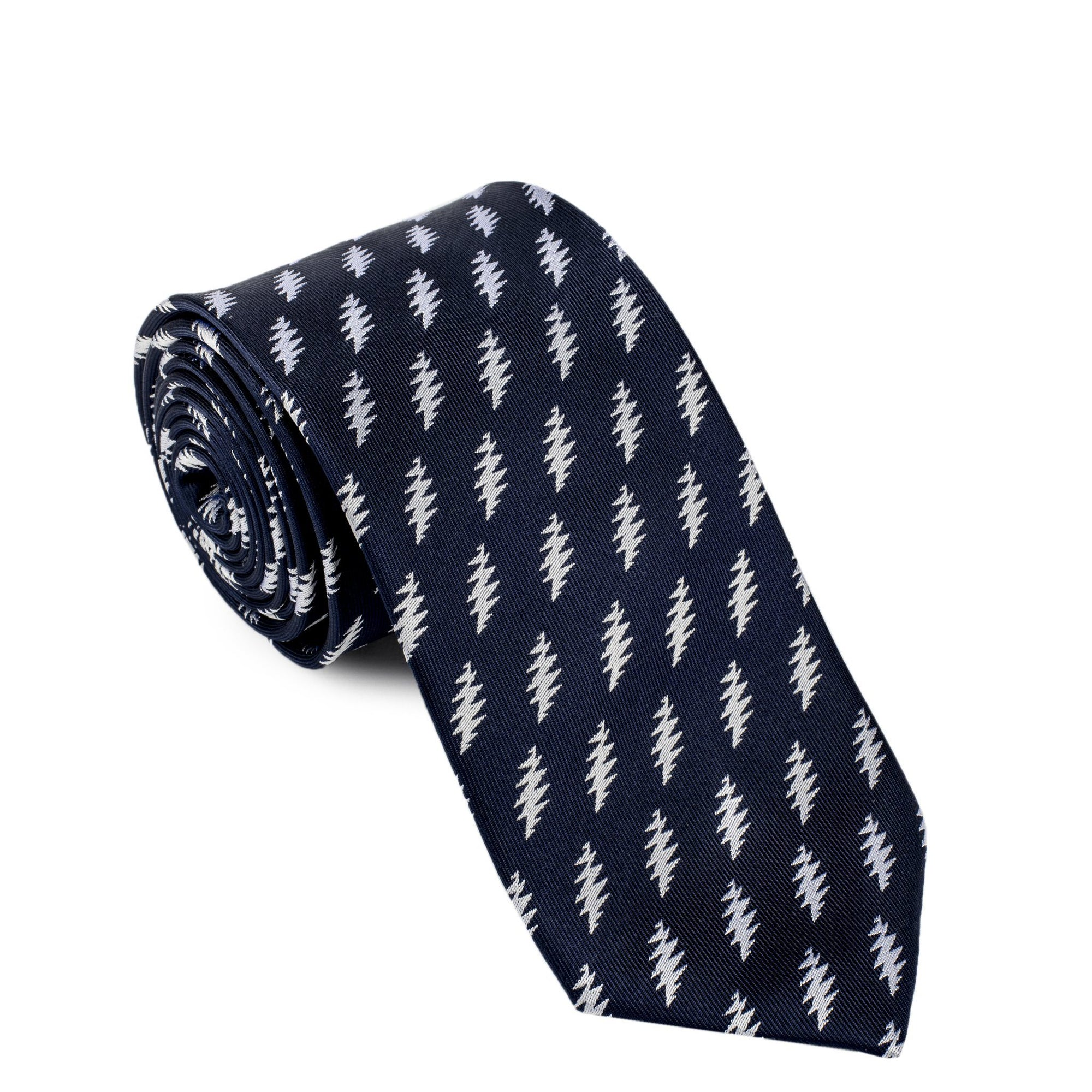Grateful Dead Navy All Over Bolt Tie - Section 119