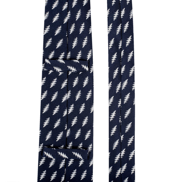 Grateful Dead All Over 13 Bolt Navy Tie