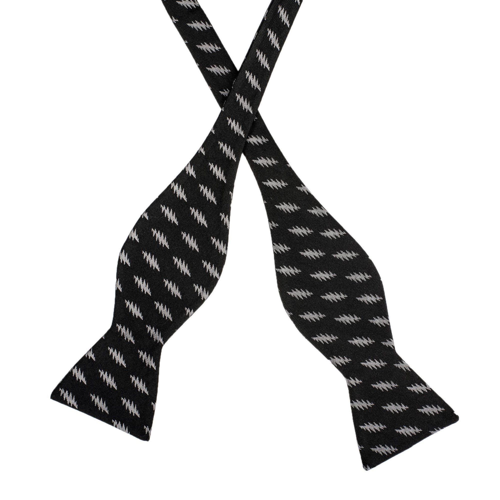 Grateful Dead Black All Over Bolt Bow Tie (self-tied) - Section 119