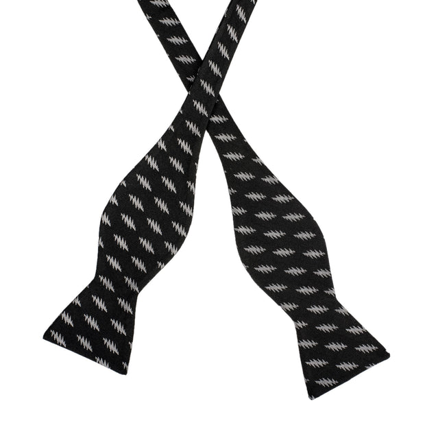 Grateful Dead All Over 13 Bolt Black Bow Tie (self-tied)