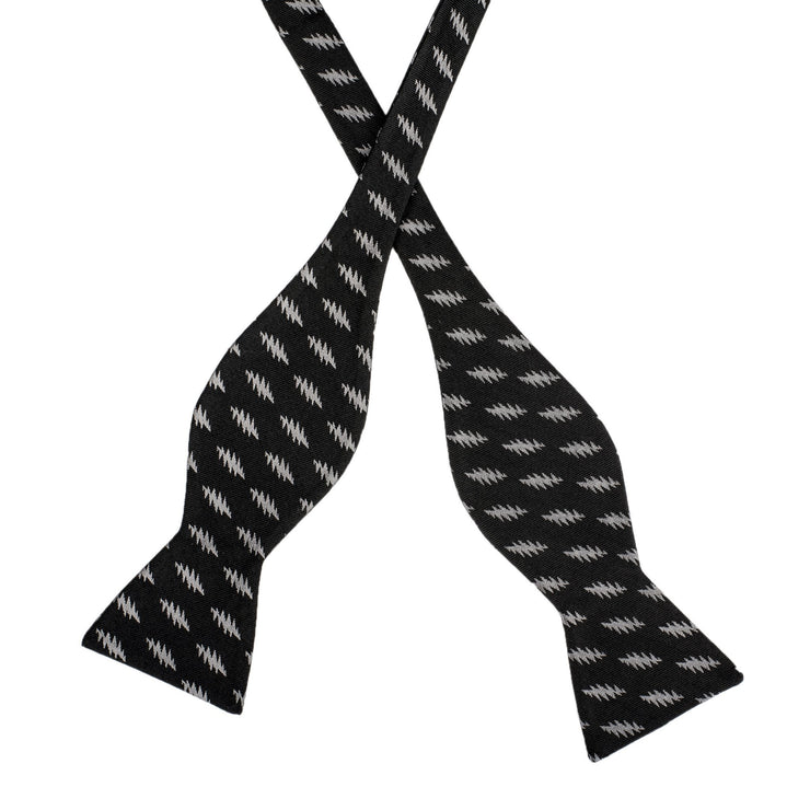 Grateful Dead All Over 13 Bolt Black Bow Tie (self-tied) tie Section 119