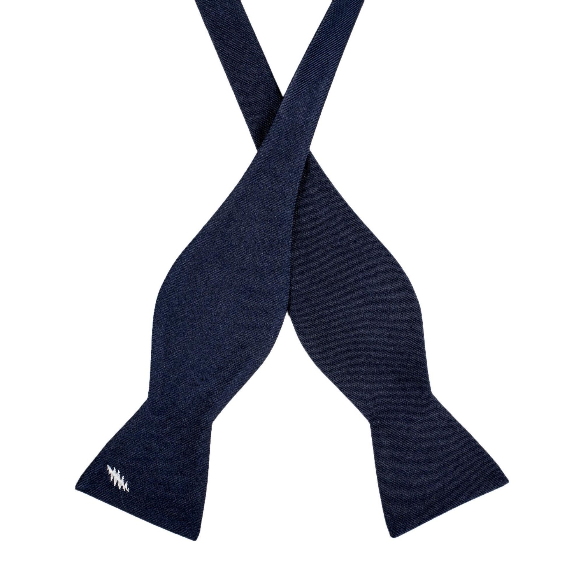 Grateful Dead Navy 13 Point Bolt Bow Tie (self-tied) - Section 119