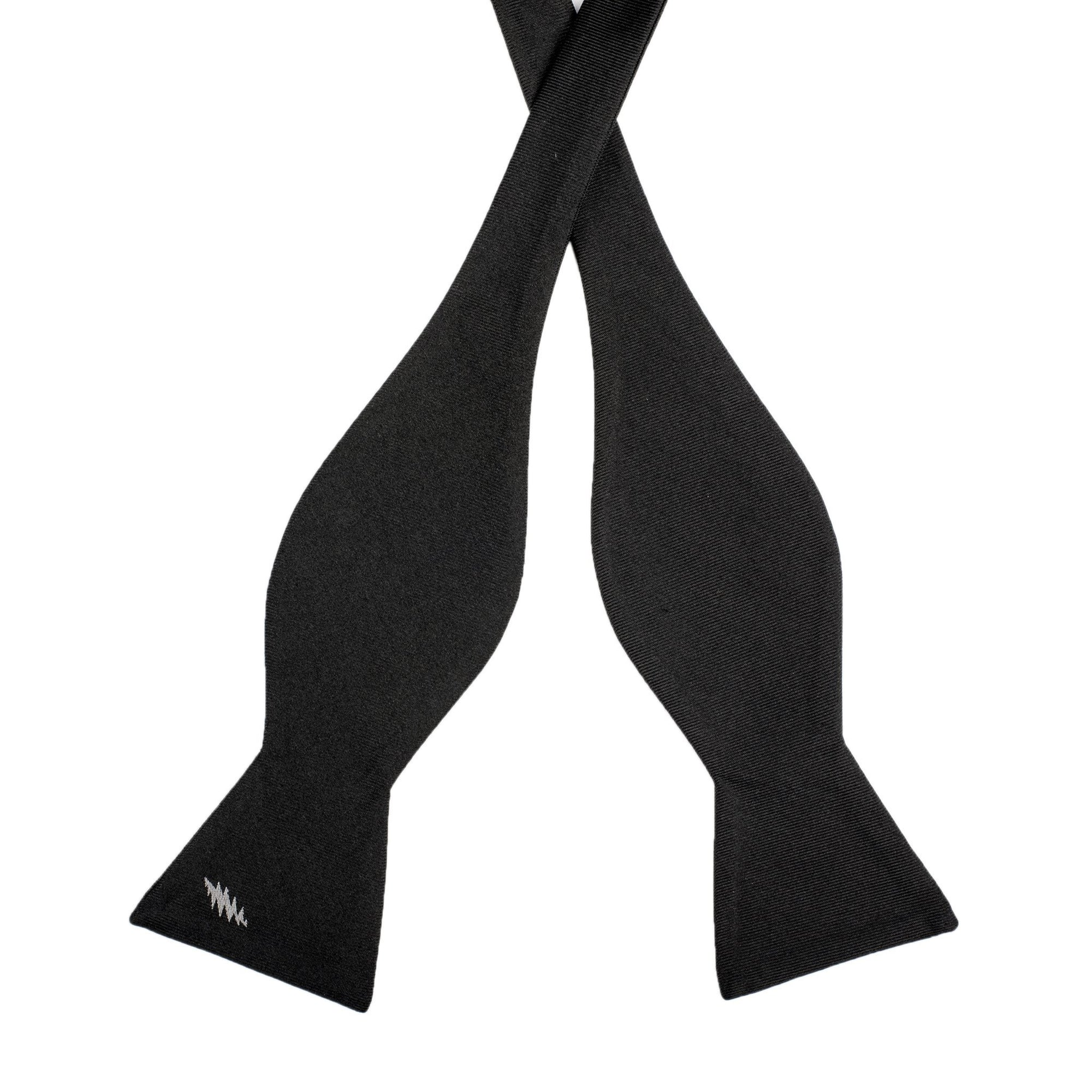 Grateful Dead Black 13 Point Bolt Bow Tie (self-tied) - Section 119