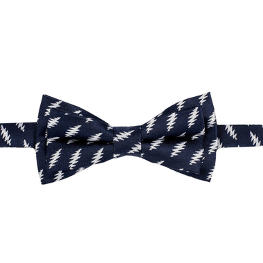Grateful Dead Navy All Over Bolt Bow Tie (self-tied) - Section 119
