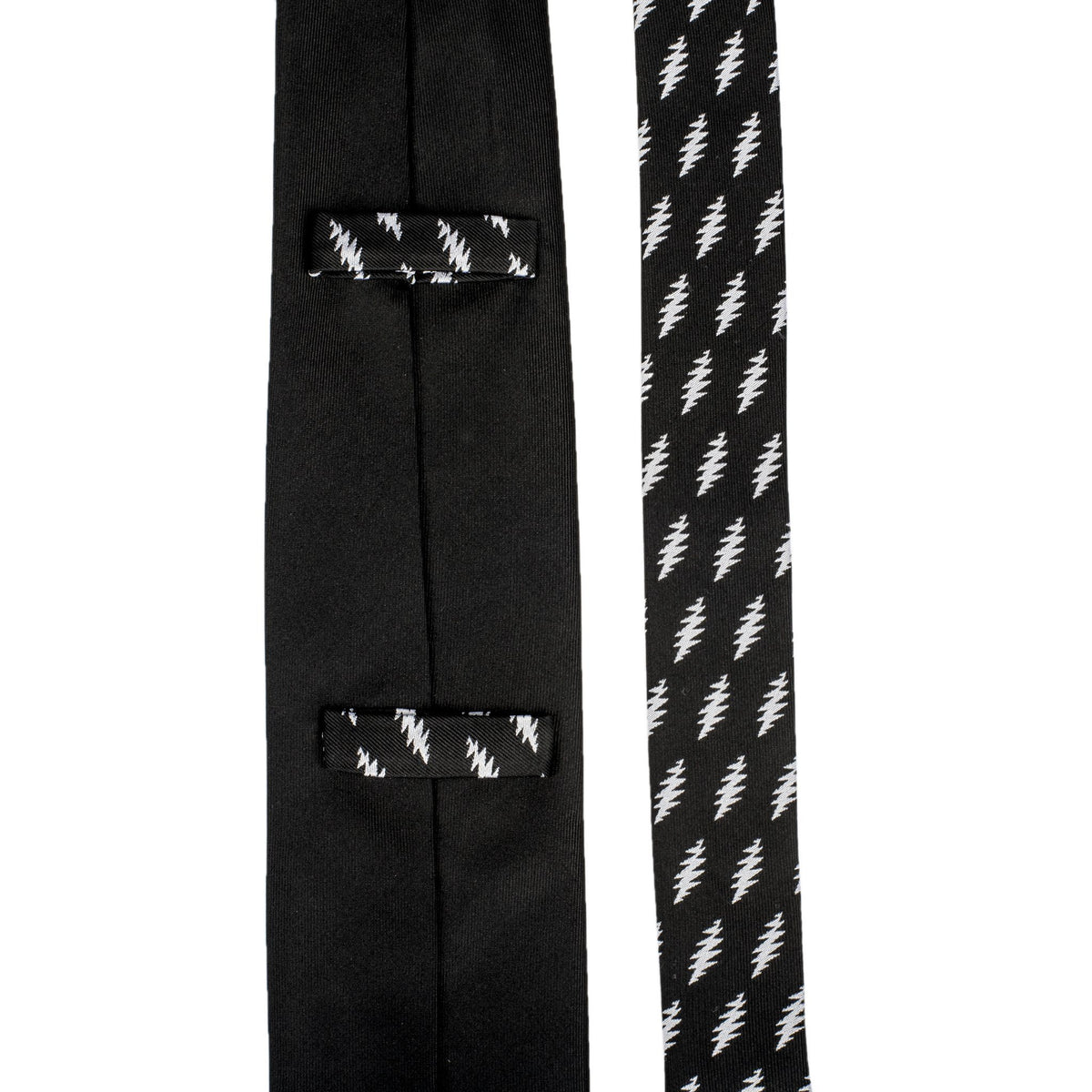 Grateful Dead Black 13 Point Bolt Tie - Section 119