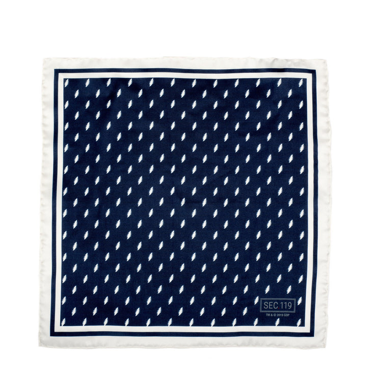 Grateful Dead 13 Bolt Pocket Square