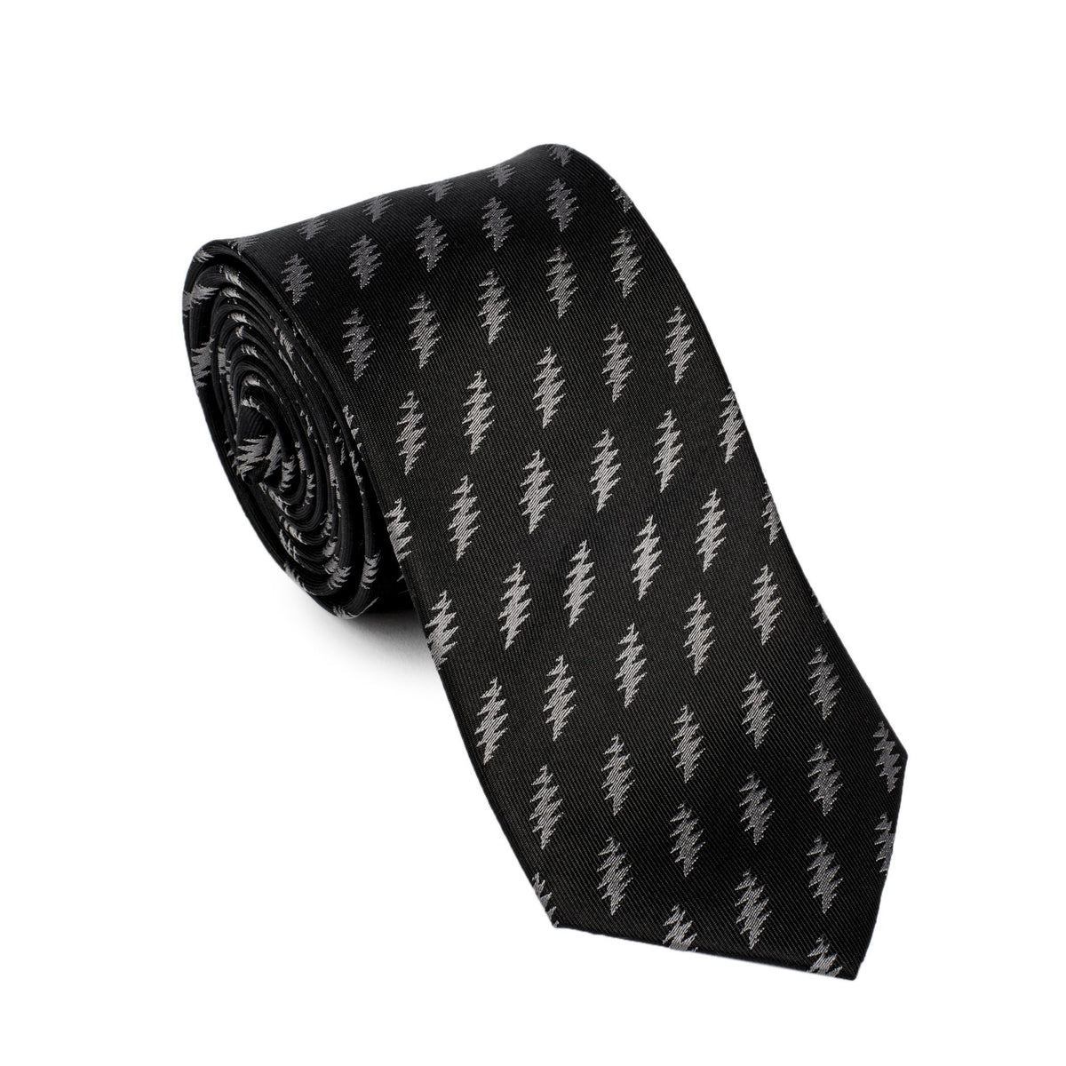 Grateful Dead Black 13 Point Bolt Tie (grey) - Section 119