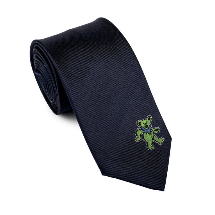 Grateful Dead Navy with Green Dancing Bear Tie by Section 119