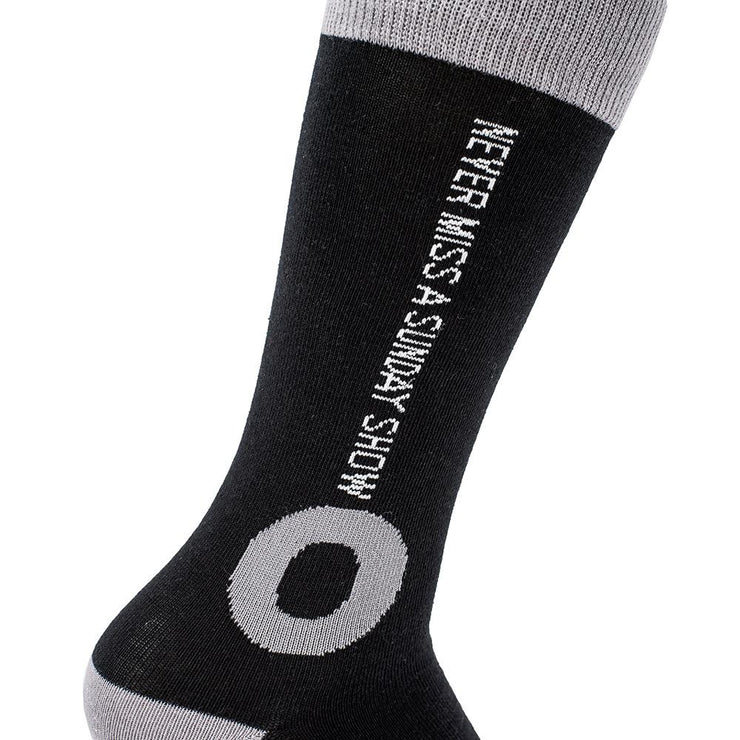 Never miss a sunday show quote on Kasvot Vaxt KV Fishman Donut Socks by Section 119