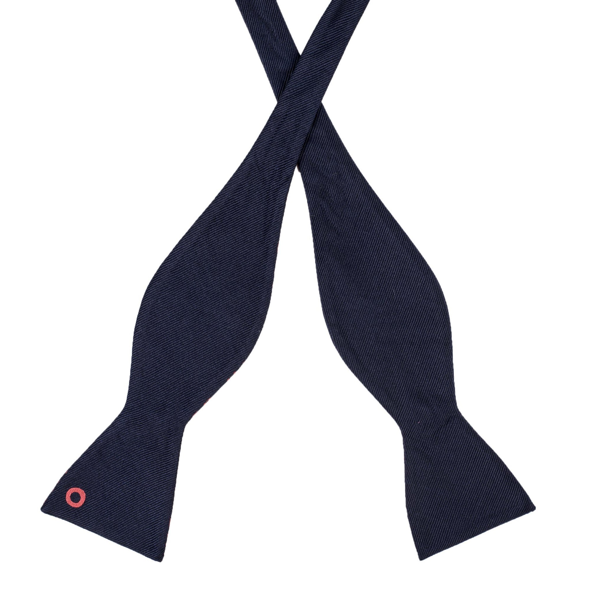 Navy Donut Bow Tie (self-tied) - Section 119